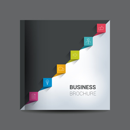 business book: Brochure, report layout cover template.