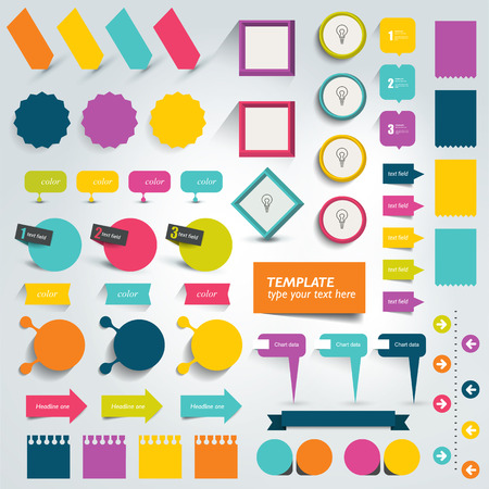 Collections of info graphics flat design elements. Vector illustration.