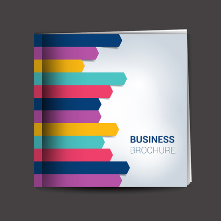 notebook cover: Brochure, report layout cover template.