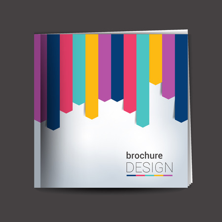 prospectus: Brochure, report layout cover template.