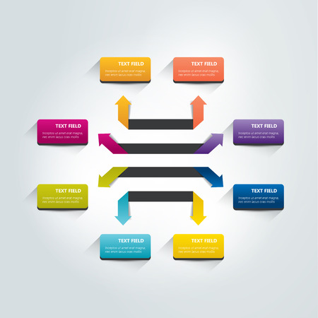 visualisation: Arrow infographics scheme. Vector.