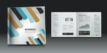 newsletter: Brochure, newsletter, annual report layout template. Business background concept.