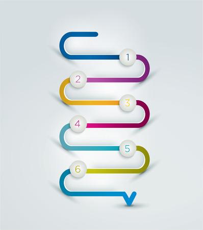 process flow: Snake speech bubble template. Infographics elements. Illustration