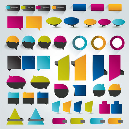 brand new: Collections of infographics flat design elements. Vector illustration. Illustration