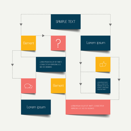 data flow: Flow chart scheme. Infographics elements. Vector design.