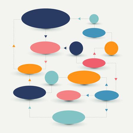 process flow: Flow chart scheme. Infographics elements. Vector design.