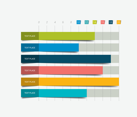 graph report: Flat chart graph. Simply editable color. Infographics elements.