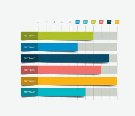 barra de bar: Gr�fico de la carta plana. Simplemente el color editable. Infograf�a elementos.