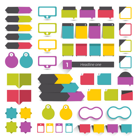 Big flat infographics set design elements schems charts buttons. Vector illustration. Illustration