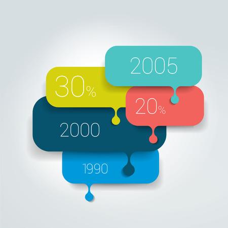 cuadrados: Burbuja del discurso esquema de diagrama. Elemento de Infografía. Vectores