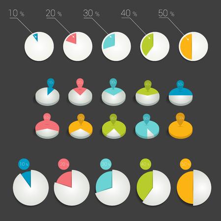 graficas de pastel: Círculo gráficos circulares gráficos.