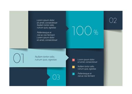 Blue banner schedule tab. Minimalistic vector design infographic. Illusztráció