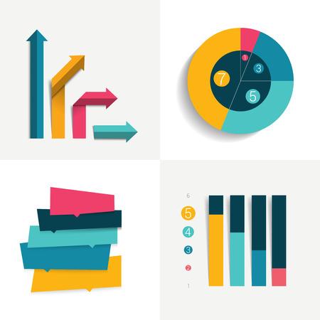 d data: Infographics elements. Illustration