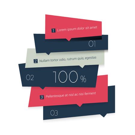 vector banner: Blue banner schedule tab. Minimalistic vector design infographic. Illustration