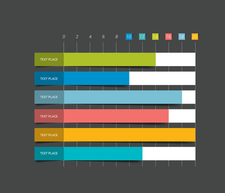 information design: Flat chart graph. Simply editable color. Infographics elements.
