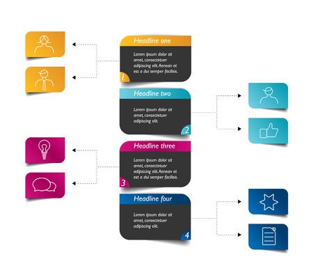 hierarchy chart: Flowchart diagram scheme. Infographic element.