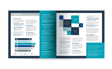 magazine template: Booklet page. Magazine layout for infographics. Web template.