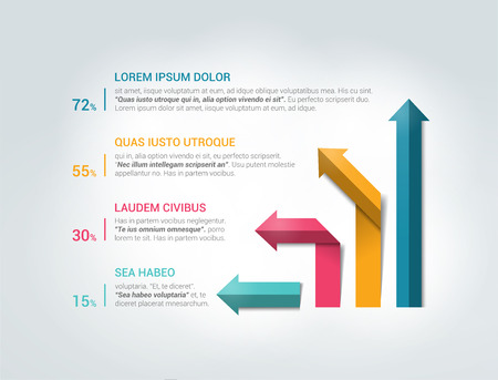 data centers: Arrow 3D infographic.