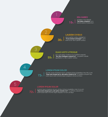 Timeline. Step by step template. Infographic. Illustration