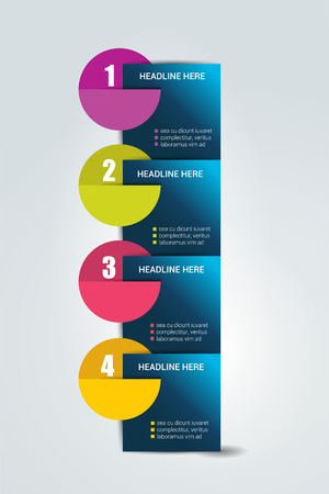 four: Four steps template. Numbered chart. Infographic element.