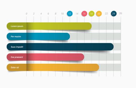 3D chart, graph. Infographics element. Vector. Illustration