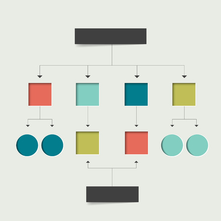 data centers: Flowchart scheme. Simply flat design. Illustration