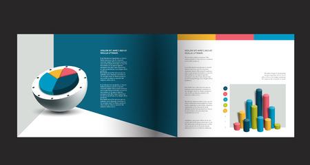 magazine design: Brochure design. Magazine layout for infographics. Illustration