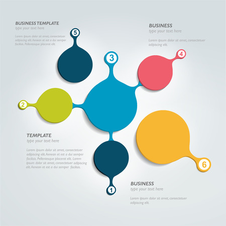 data centers: Circle infographic chart. Vector template.