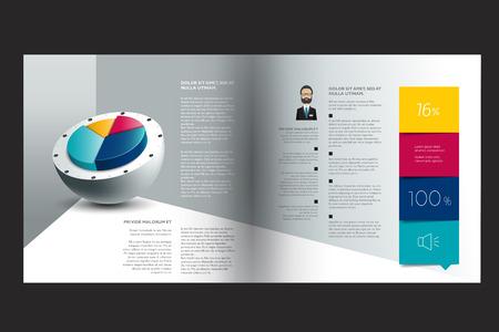 marca libros: Diseño del folleto. Diseño de la revista de la infografía.