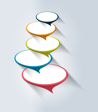 Speech bubble banner template. Business color vector. Infographic.