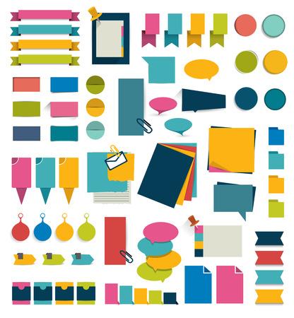 sticker vector: Set of infographics elements.