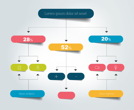 flow chart: Flow chart scheme. Infographics elements. Vector design.