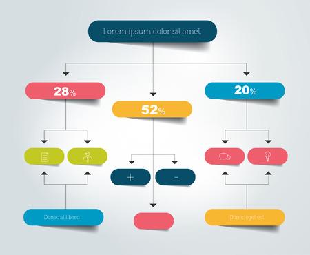 Flussdiagramm Schema. Infografik-Elemente. Vektor-Design. Standard-Bild - 44083790