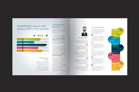 marca libros: Diseño de folletos. diseño de la revista de la infografía. Vectores