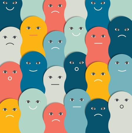 dialogo: Color de personas estilizado patrón, fondo. Ilustración del vector.