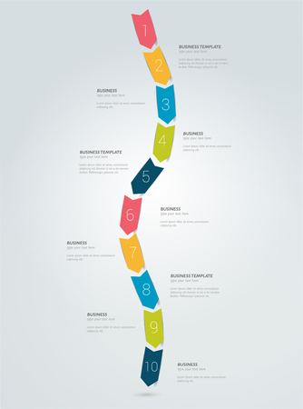 set of businessman: Timeline arrow snake infographic template. Simply vector design.