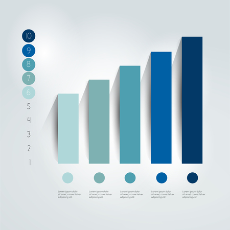 bar graph: Flat chart, graph. Simply editable. Info graphics element.