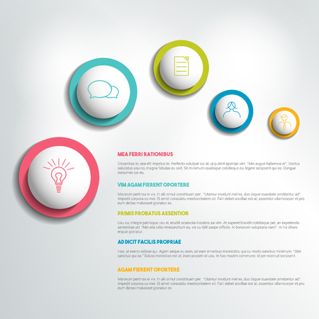 page layout: Brochure, flyer, newsletter, annual report page layout template. Business background concept.