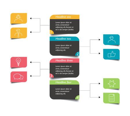 diagrama de flujo: Esquema de diagrama de flujo. Elemento de Infografía.