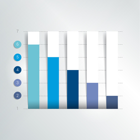 Flat chart, graph. Simply editable color. Infographics elements.  イラスト・ベクター素材