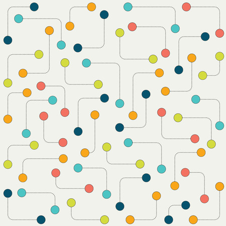 wall paper: Stylized dot pattern. Abstract stylized molecular isolated vector background, wall paper.
