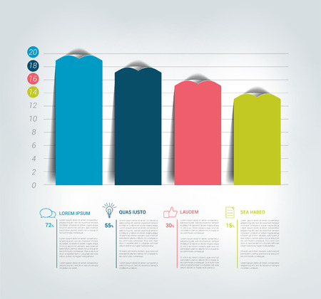 Colummn Chart, graph for infographics.