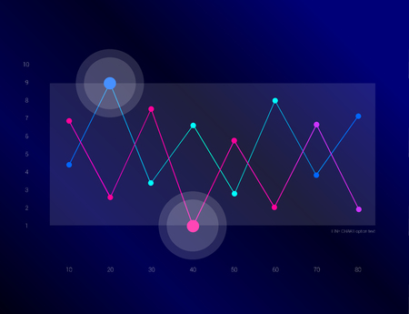 charts and graphs: Exclusive dark blue bussiness chart, graph. Line design. Infographic.