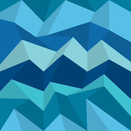 wall paper: Polygonal blue pattern. Zigzag vector background, wall paper. Illustration