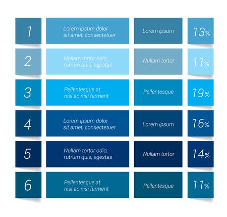 zeitplan: Tabelle, Tabelle, Spielplan. Infografik-Elemente.