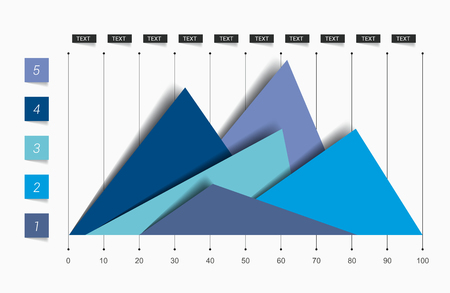 Flat chart, graph. Simply editable color. Infographics elements. Illustration