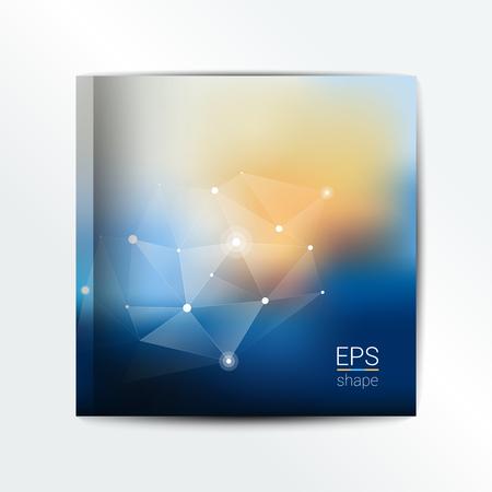 design office: Front cover brochure template. Blur vector design. Illustration