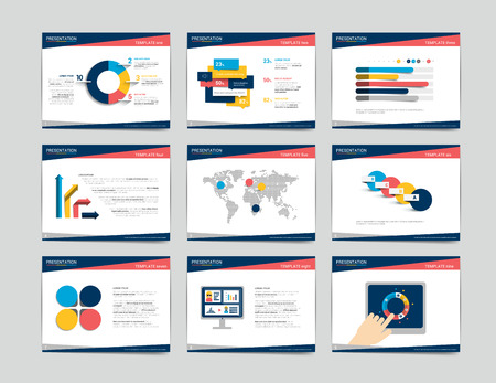 present presentation: 4 business presentation templates. Infographics for leaflet, poster, slide, magazine, book, brochure, website, print.