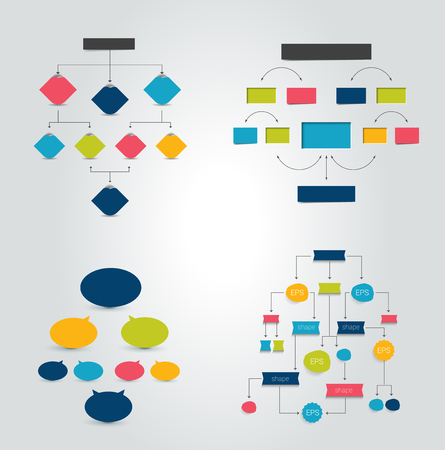 steppe: Flat chart, graph with shadows effect. Simply editable color. Infographics elements.