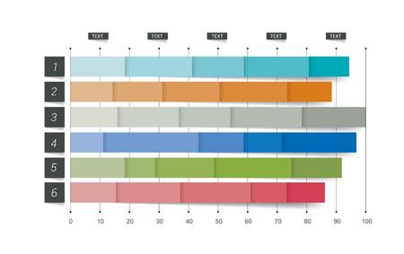 유행: 플랫 차트, 그래프. 간단하게 편집 가능한 색상. infographics입니다 요소.